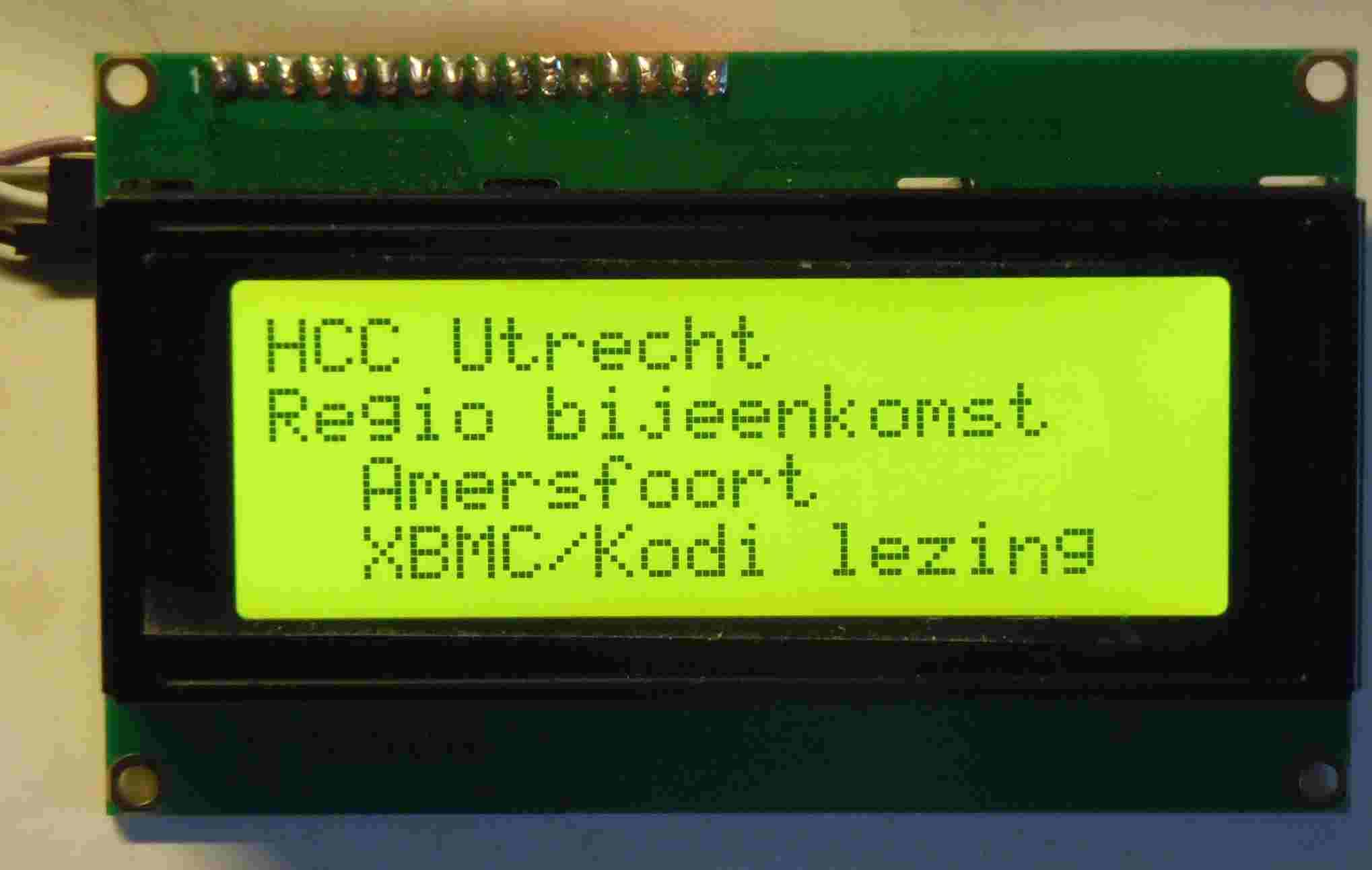 LCD display 20x4 hjv